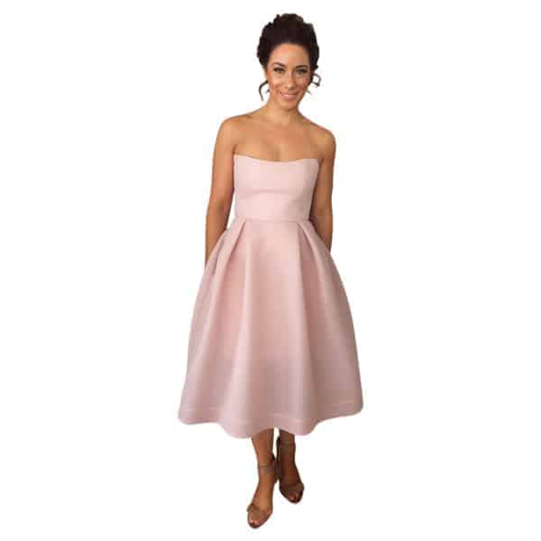 Nicholas Mesh Ball Dress Blush - Get Dressed Hire