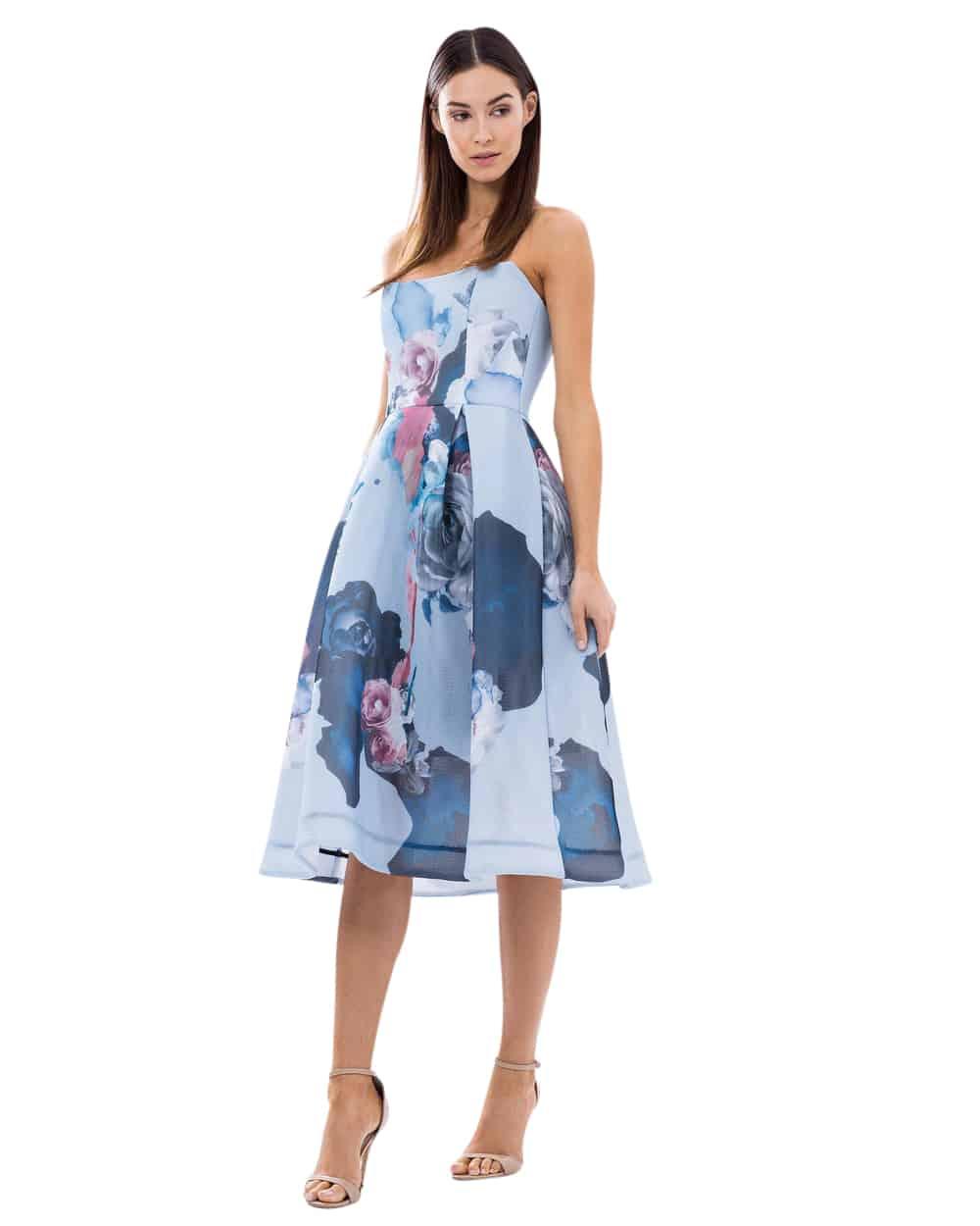 Nicholas Floral Mesh Ball Dress