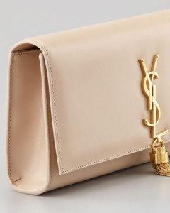 f16b39c191ed Saint Laurent - Gold Tassel Nude Clutch