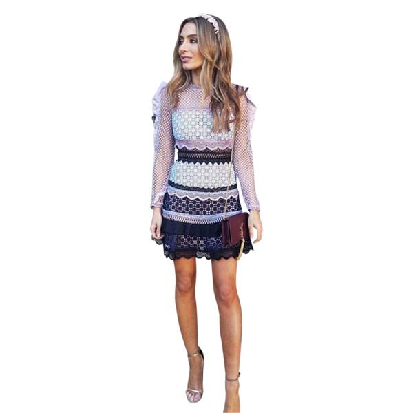b350398437f7 Self-Portrait - Bellis Lace Trim Dress | All The Dresses