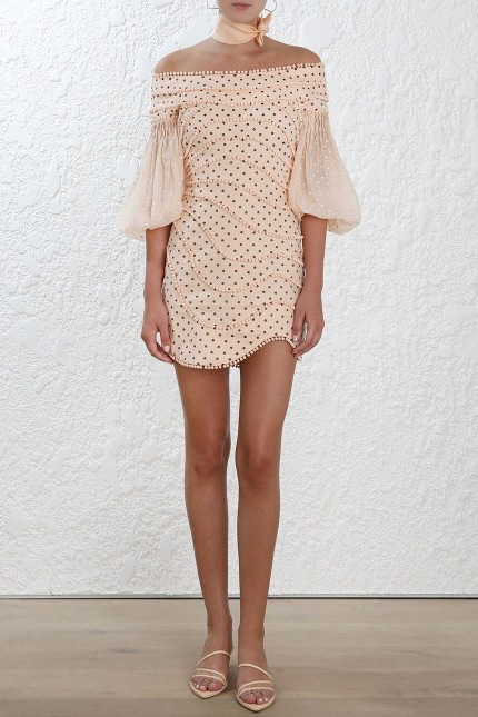 Zimmermann Painted Heart Contour Mini Dress All The