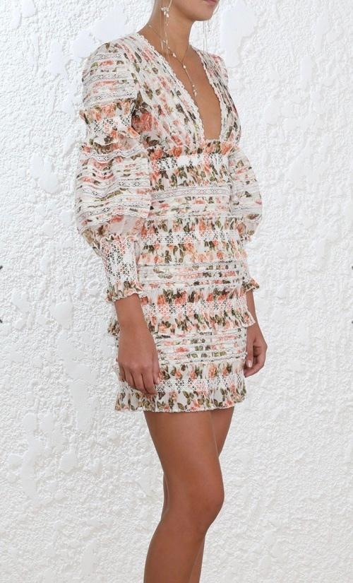 d15422cd2292 Zimmermann Radiate Smocked Mini Dress - Get Dressed Hire